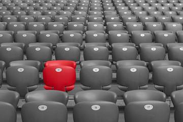 Red Stadium seat.