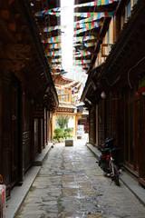 Printed kitchen splashbacks Kyoto チベット タルチョ 香格里拉 シャングリラ 雲南省 Shangri-La 独克宗古城