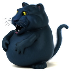Black cat - 3D Illustration