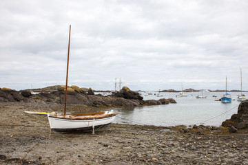 08-10-2018 Chausey France. Boat in Chausey Island France