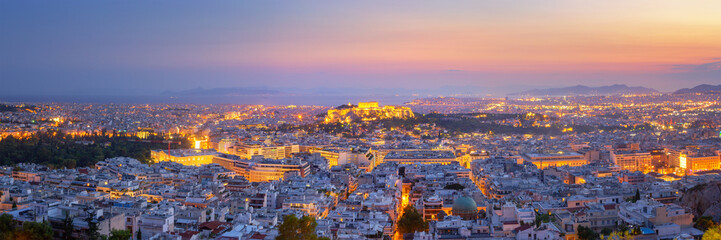 Poster Athene Panoramic View of Athens, Greece