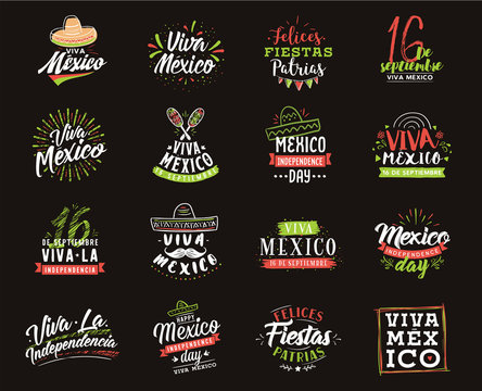 Viva Mexico. Independence day of Mexico. 16 september.
