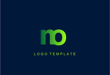 NO Green Letter Logo Design