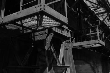 Brücken Stahl Konstruktion Treppe Podest Architektur