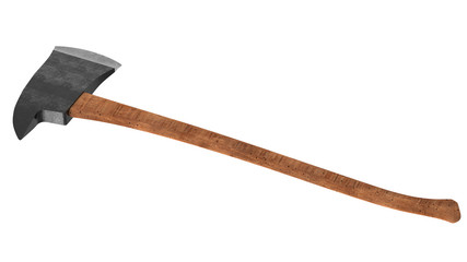 3D render long ax isolated on white background