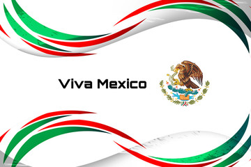 Mexico flag color background concept for National holiday, Independence Day and other events, Vector illustration