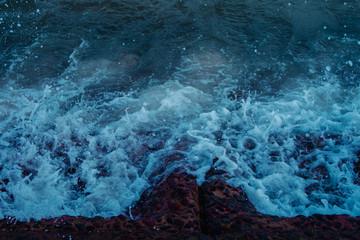 Sea waves natural dark background