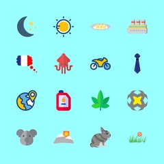 16 nature icons set