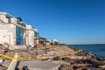 Sandy hurricane damage in New York