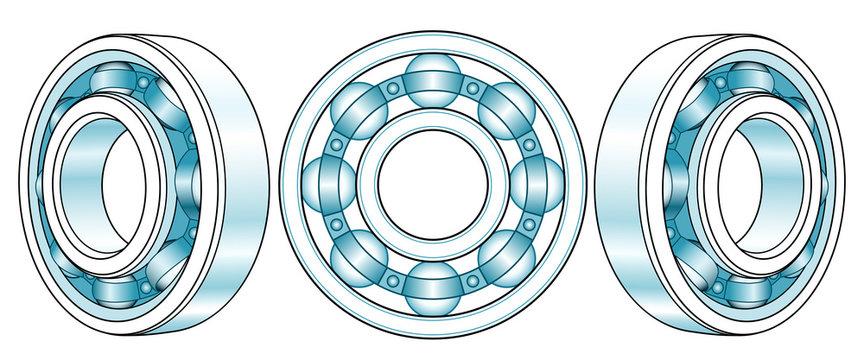Ball bearings illustration