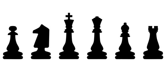 Chess symbol design art leisure strategy. Sport pictogram game concept vector dice board. Figure king, queen, bishop, knight, rook, pawn. Illustration play set. Education background challenge icon