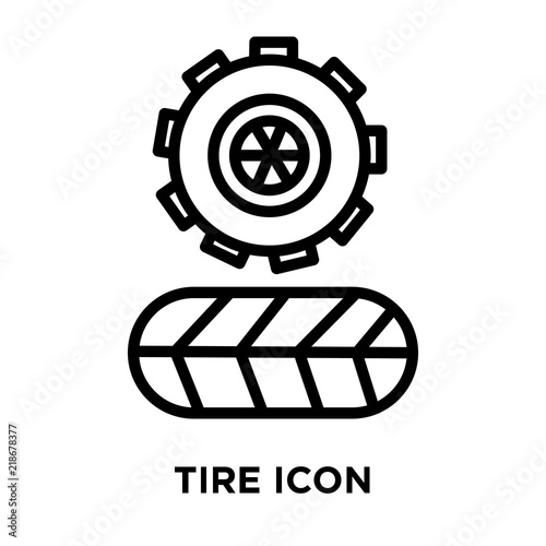 tire icon vector isolated on white background tire sign linear