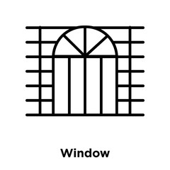 Window icon vector isolated on white background, Window sign , thin line design elements in outline style