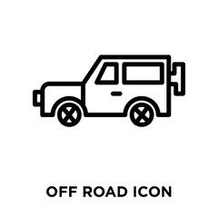 Off road icon vector isolated on white background, Off road sign , linear symbol and stroke design elements in outline style