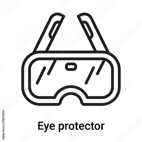 Eye Protector Icon Vector Isolated On White Background Eye