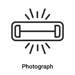 Photograph icon vector isolated on white background, Photograph sign , line or linear symbol and sign design in outline style
