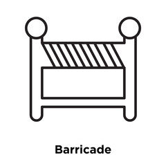 Barricade icon vector isolated on white background, Barricade sign , sign and symbols in thin linear outline style