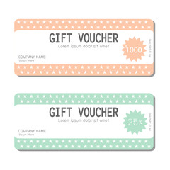 Gift voucher template and modern pattern. Voucher template with premium pattern, gift Voucher template with colorful pattern. bright concept. Vector illustration