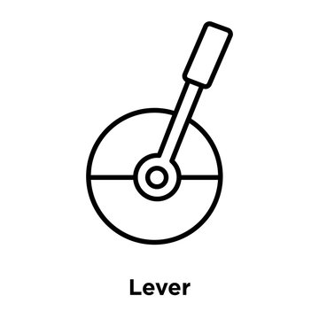 lever icon isolated on white background. Simple and editable lever icons. Modern icon vector illustration.