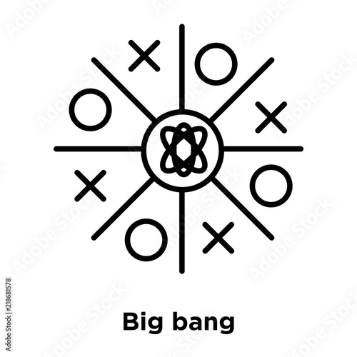 Big Bang Icon Isolated On White Background Simple And Editable Big