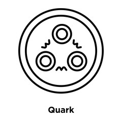 quark icon isolated on white background. Simple and editable quark icons. Modern icon vector illustration.