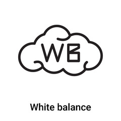 White balance icon vector isolated on white background, White balance sign , line or linear symbol and sign design in outline style