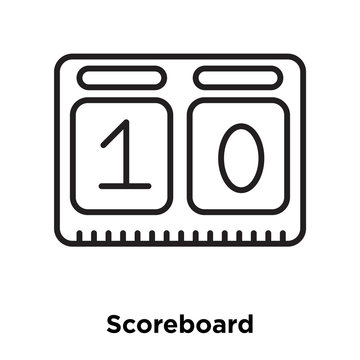 scoreboard icon isolated on white background. Simple and editable scoreboard icons. Modern icon vector illustration.