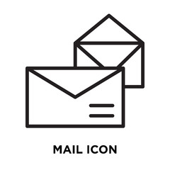 mail icon on white background. Modern icons vector illustration. Trendy mail icons