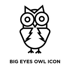 big eyes owl icon on white background. Modern icons vector illustration. Trendy big eyes owl icons