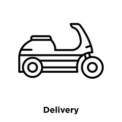 Delivery icon vector isolated on white background, Delivery sign , thin line design elements in outline style