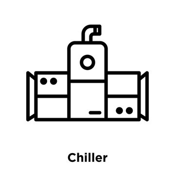 chiller icons isolated on white background. Modern and editable chiller icon. Simple icon vector illustration.