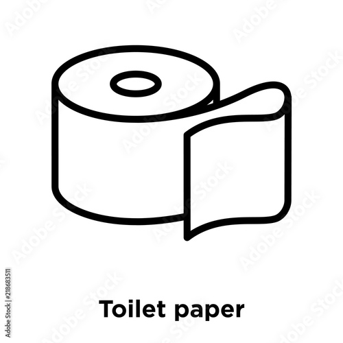 quottoilet paper icon vector isolated on white background