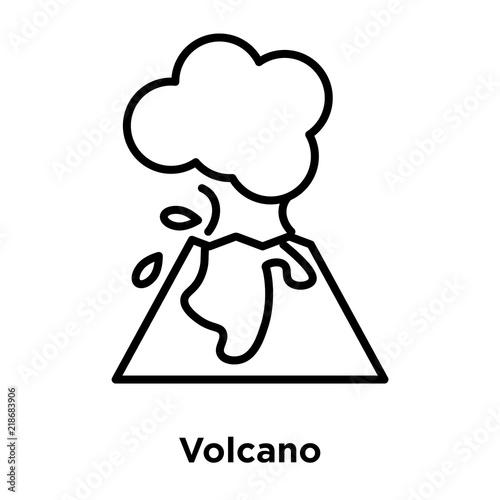 Volcano icon vector isolated on white background volcano sign volcano icon vector isolated on white background volcano sign line or linear sign maxwellsz