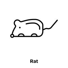 Rat icon vector isolated on white background, Rat sign , thin line design elements in outline style