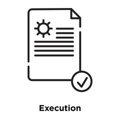 execution icon isolated on white background. Simple and editable execution icons. Modern icon vector illustration.