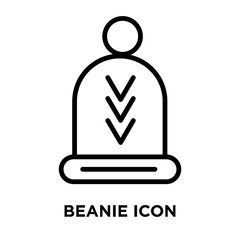Beanie icon vector isolated on white background, Beanie sign , linear symbol and stroke design elements in outline style