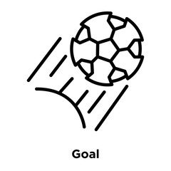 goal icon isolated on white background. Modern and editable goal icon. Simple icons vector illustration.