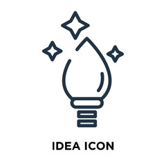 Idea icon vector isolated on white background, Idea sign , line symbol or linear element design in outline style