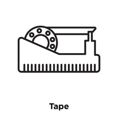 tape icon isolated on white background. Simple and editable tape icons. Modern icon vector illustration.
