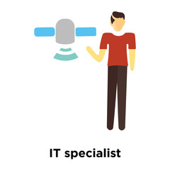 it specialist icon isolated on white background. Simple and editable it specialist icons. Modern icon vector illustration.