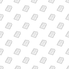 Memory card 8 gb icon in outline style isolated on white background. Storage symbol