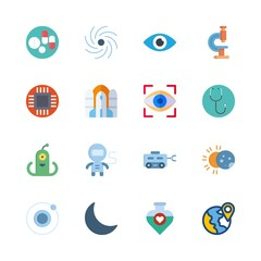 science icons set. thinking, internet, gravity and ship graphic works