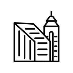 building icon on white background. Modern icons vector illustration. Trendy building icons