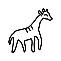 Giraffe icon vector isolated on white background, Giraffe sign