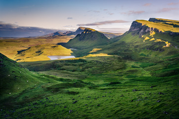 Isle of Skye view - Quiraing trail in Scotland