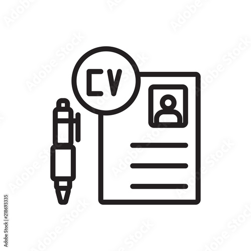 Curriculum Vitae Icon Vector Isolated On White Background
