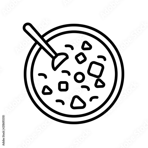 Winter Melon Soup Icon Isolated On White Background Modern And