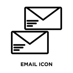 email icons isolated on white background. Modern and editable email icon. Simple icon vector illustration.