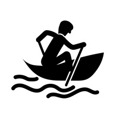 Kayak icon vector isolated on white background, Kayak sign