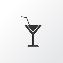 Cocktail icon symbol. Premium quality isolated martini element in trendy style.